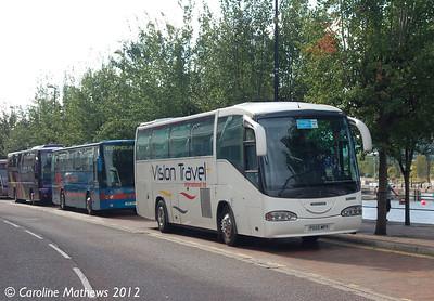 VIsion Travel P555MPY, Salford Quays,  1st September 2012