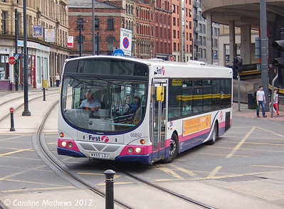 First 66892 (MX55LDJ), Manchester, 1st September 2012