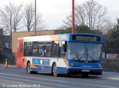 Stagecoach 22189 (T189MVM), Droylsden,  2nd March 2013