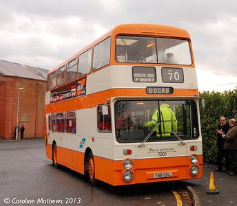 GMPTE 7001 (VBN101L), Boyle Street, Manchester, 7th December 2013