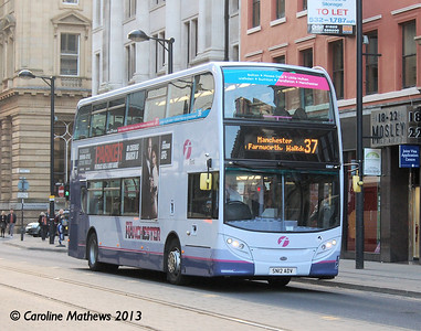 First 33657 (SN12ADV), Manchester,  2nd March 2013