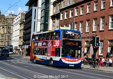 Stagecoach 19505 (MX09ATV), Princess Street, Manchester, 2nd September 2017