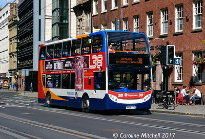 Stagecoach 19501 (MX09ATK), Princess Street, Manchester, 2nd September 2017