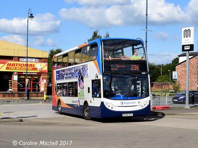 Stagecoach 19273 (MX08GPU), Ashton Bus Station, 2nd September 2017