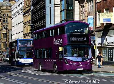FIrst 39254 (BW65DCV), Princess Street, Manchester, 2nd September 2017
