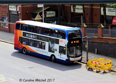 Stagecoach 10616 (SN16OWW), Whitworth Street, Manchester, 3rd June 2017