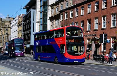 Blackburn Bus Company 3606 (X6VTD), Princess Street, Manchester, 2nd September 2017