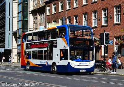 Stagecoach 19358 (MX08UDK), Princess Street, Manchester, 2nd September 2017