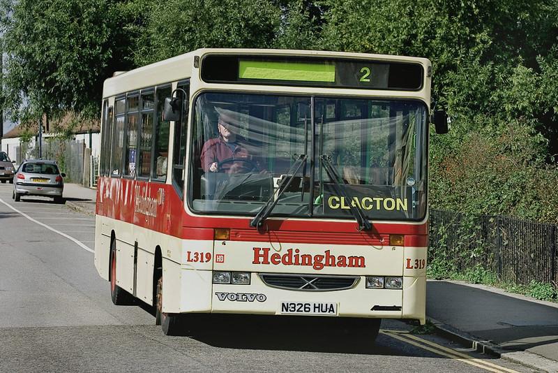 Hedingham L319 N326HUA, Manningtree 17/9/2005