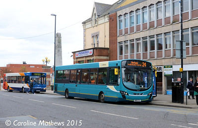Arriva North East 1476 (NK61CYL),Victoria Road, Hartlepool, 16th May 2015