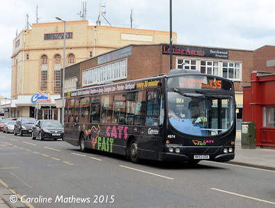 Go North East 4974 (NK53UOA), York Road, Hartlepool, 16th May 2015