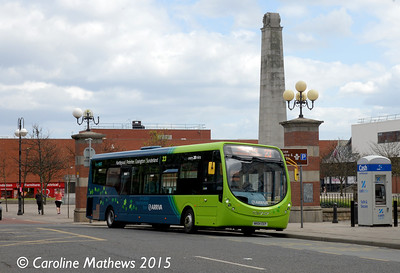 Arriva North East 1578 (NK64EEP), Victoria Street, Hartlepool, 16th May 2015