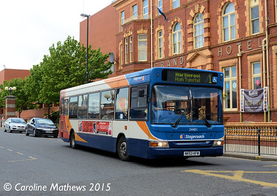 Stagecoach 34401 (NK53KFW), Victoria Road, Hartlepool, 16th May 2015