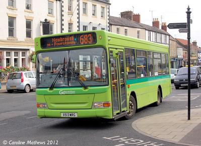 Go North East 513 (X513WRG), Hexham, 6th September 2012