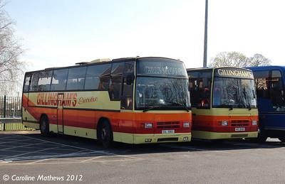 Gillinghams GIL1082 & HDZ8683, Hexham, 29th March 2012