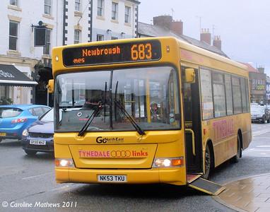 Go North East 556 (NK53TKU), Hexham, 19th November 2011