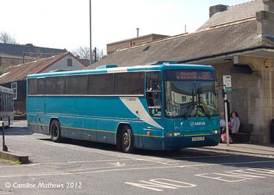 Arriva North East 1206 (V206DJR), Hexham, 29th March 2012