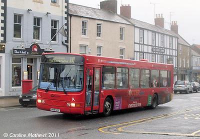 Go North East 4910 (W491SCU), Hexham, 19th November 2011