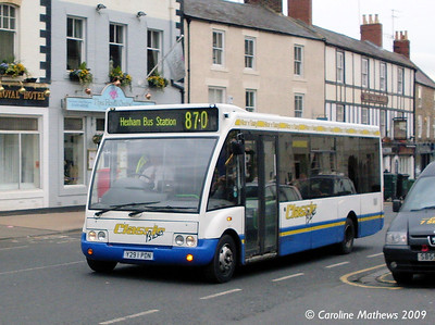 Classic Buses Y291PDN, Hexham, 6th November 2009