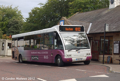 Classic Coaches Y292PDN, Hexham, 6th September 2012
