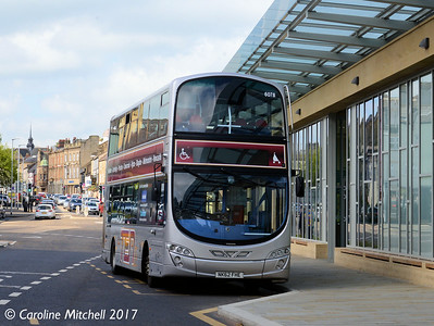 Go North East 6078 (NK62FHE), Hexham Bus Station, 6th May 2017