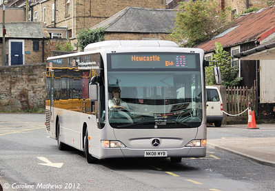 Go North East 5313 (NK08MYB), Hexham, 6th September 2012