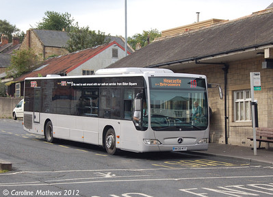 Go North East 5316 (NK08MYF), Hexham Bus Station, 6th September 2012