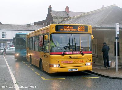 Go North East 558 (NK53TKX), Hexham, 19th November 2011