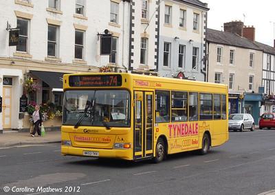 Go North East 557 (NK53TKV), Priestpopple, Hexham, 6th September 2012
