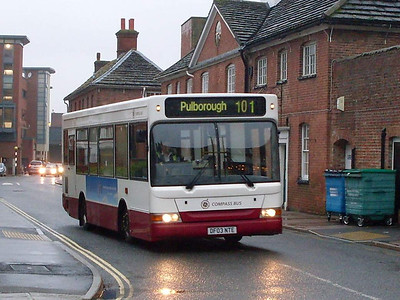 Compass Bus DF03NTE, Horsham, 30th December 2009