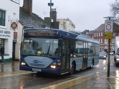 Metrobus 552 (YN55PWJ), Horsham, 30th December 2009