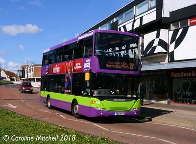 Ipswich Buses 46 (YR61RPX), St Matthews Street, Ipswich, 24th September 2018