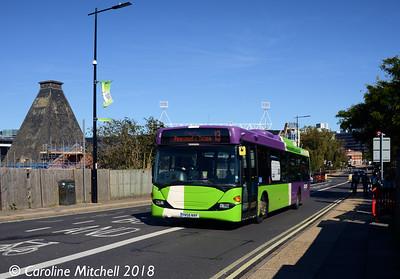Ipswich Buses 74 (YN56NVF), Princes Street, Ipswich, 24th September 2018