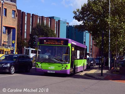 Ipswich Buses 156 (AY60BVD), Crown Street, Ipswich, 24th September 2018