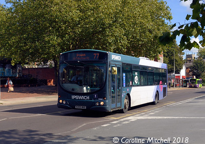 First 66985 (KX05MHO), Crown Street, Ipswich, 24th September 2018