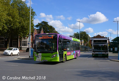 Ipswich Buses 107 (YX66WCL), Tower Ramparts, Ipswich, 24th September 2018