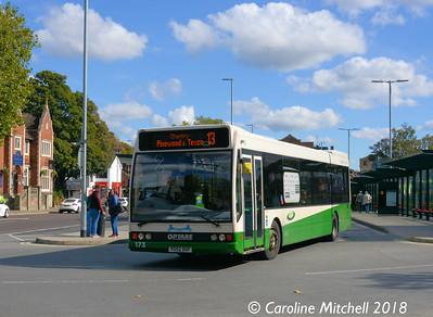 Ipswich Buses 173 (YG52DGF), Tower Ramparts, Ipswich, 24th September 2018
