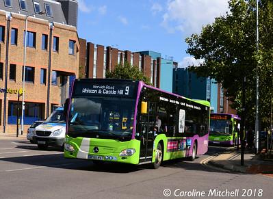 Ipswich Buses 153 (BF65HVT), Crown Street, Ipswich, 24th September 2018
