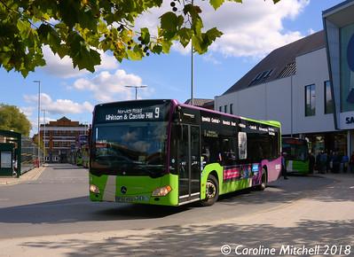 Ipswich Buses 154 (BF65HVU), Tower Ramparts, Ipswich, 24th September 2018