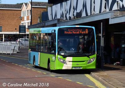 Ipswich Buses 81 (YX63LGE), St Matthews Street, Ipswich, 24th September 2018