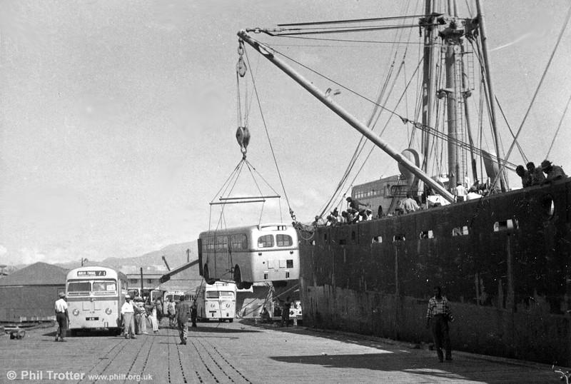 Unloading buses at Kingston (1).