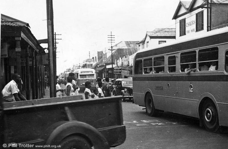 Traffic congestion in Kingston.