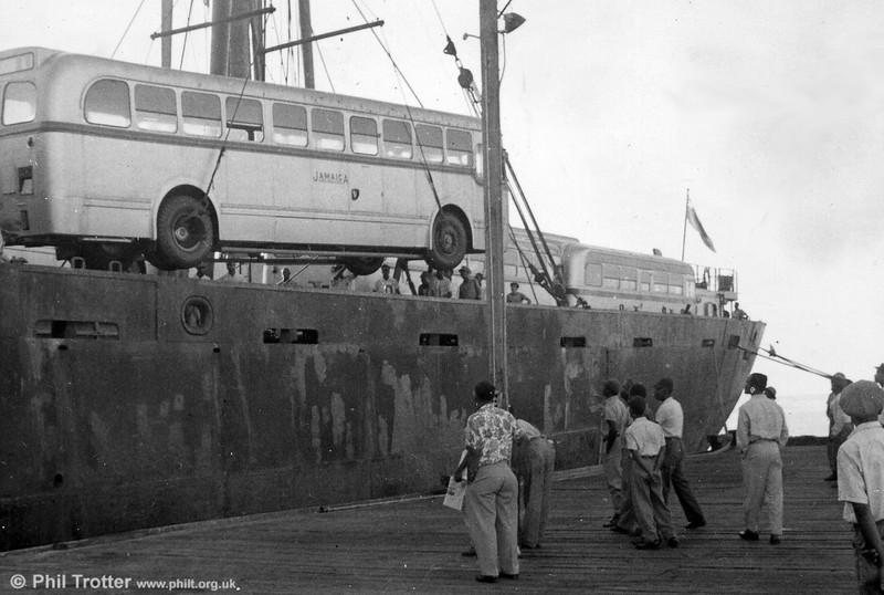Unloading buses at Kingston (3).
