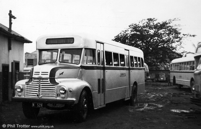 Leyland Comet E1 as rebuilt by JOS with a 'Jamaica Utilities' B34+20D body and one of five (E1-E5) similarly treated by 1954.