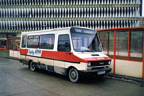 185 E457TYG, Keighley 15/2/1991