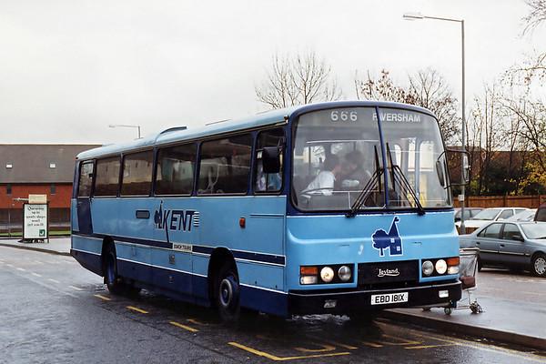 Kent Coach Tours EBD181X, Ashford 10/11/1993