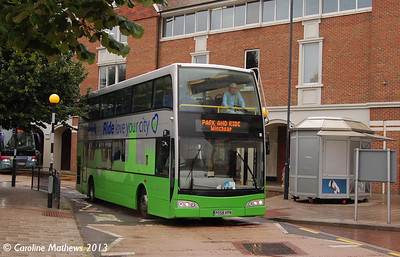 Kent Top Travel PO58KPN, Canterbury, 9th September 2013