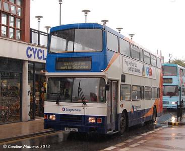 Stagecoach 16501 (R501UWL), Canterbury, 9th September 2013