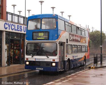Stagecoach 16025 (P825GMU), Canterbury, 9th September 2013