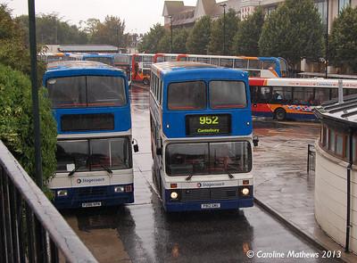 Stagecoach 16012 (P812GMU), Canterbury, 9th September 2013